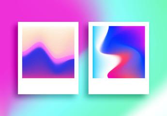 Conjunto de degradados de holograma
