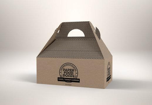 Baked Goods Box Mockup