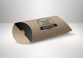 Open Pillow Box Mockup