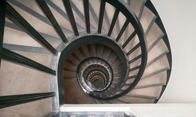 Spiral classical staircase background