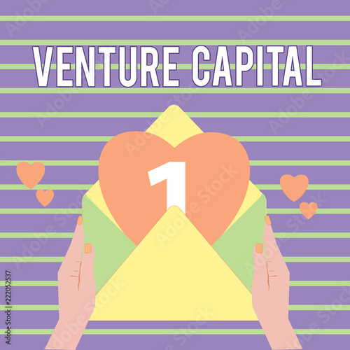 Conceptual hand writing showing Venture Capital  Business