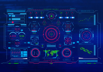 Sci-Fi Interface Overlay Graphics