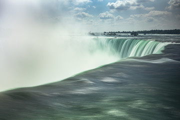 Fresh water flows over the Horseshoe Falls, Niagara Falls, Ontario, Canada