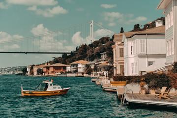 Acrylic Prints City on the water Marmara and homes