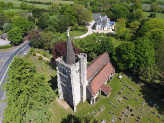 Church from the sky