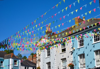 Falmouth hosts many of Cornwall's most vibrant events – Falmouth Week, Falmouth Oyster Festival, Sea Shanty Festival and Falmouth Spring Festival. Falmouth, Cornwall, UK, September Fototapete
