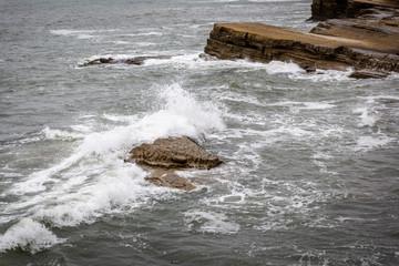 Shoreline Wave Crash