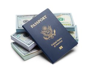 Stack of Cash and Passport