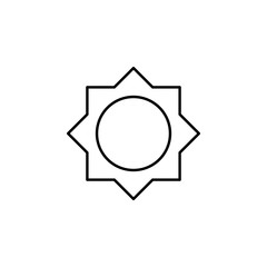 Brightness sign icon. Element of image sign for mobile concept and web apps illustration. Thin line icon for website design and development, app development. Premium icon