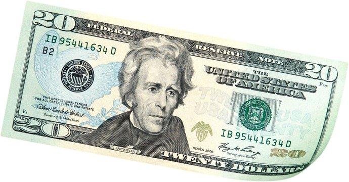 20 Dollars Bill - Isolated