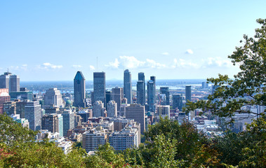 Montreal downtown scenic view