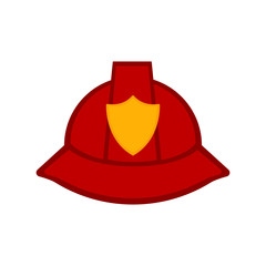 Isolated firefighter hat icon