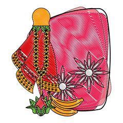 Ugadi indian emblem scribble