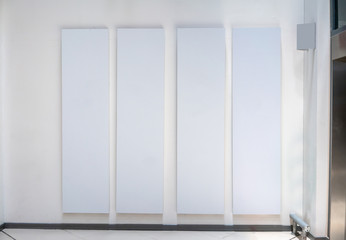 Four big vertical poster on white background