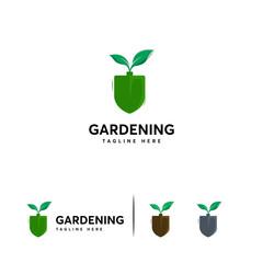 Gardening logo designs concept vector, Tree Leaf logo template