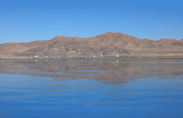 Reflection of hill in Salt flats