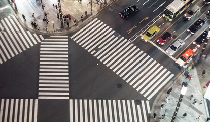 The intersection in Tokyo, Night day