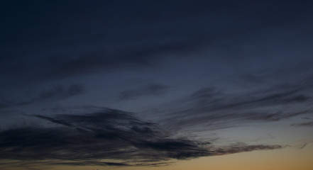 Beautiful clouds at sunset, abstract nature background