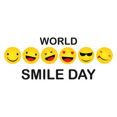 World Smile Day. Smile Icon Vector. happiness Symbol, smile face expression, vector illustration