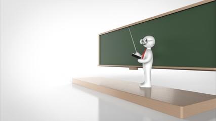 教授と黒板 パース 左コピースペース