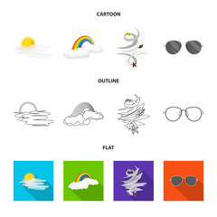 Vector design of weather and weather symbol. Set of weather and application stock symbol for web.