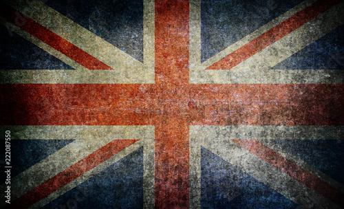 Old grunge England flag