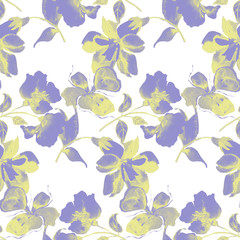 Background flowers, seamless pattern