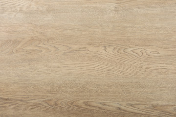 Natural wooden plate texture, horizontal top view background.