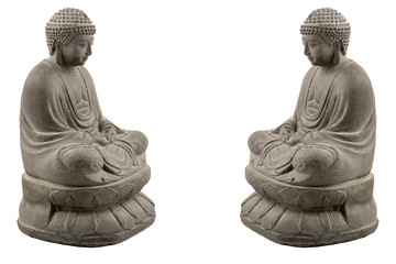 Grey stone buddha