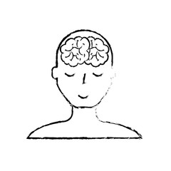 portrait human character mental brain wellness