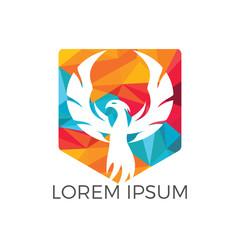 Phoenix logo design. Creative logo of mythological bird.