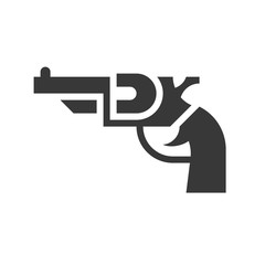 revolver handgun, police related icon