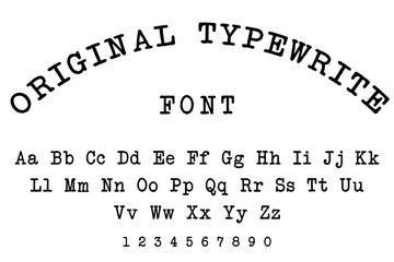 original typewriter font alphabet