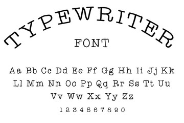 Typewriter font alphabet