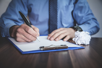 Businessman signing contract. Business concept