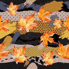 Poster Grafische Prints Abstract and natural elements background for fall design.