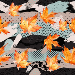 Abstract and natural elements background for fall design.