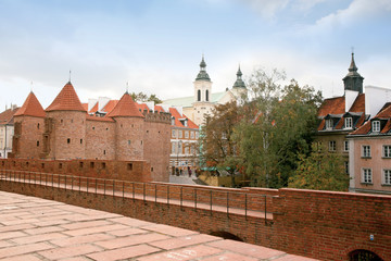 Fortress Barbican City Wall Warschau