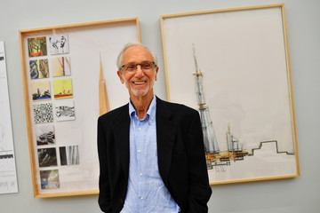 Italian architect Renzo Piano poses for a portrait, ahead of an exhibition of his work opening at The Royal Academy of Arts (RA) in London