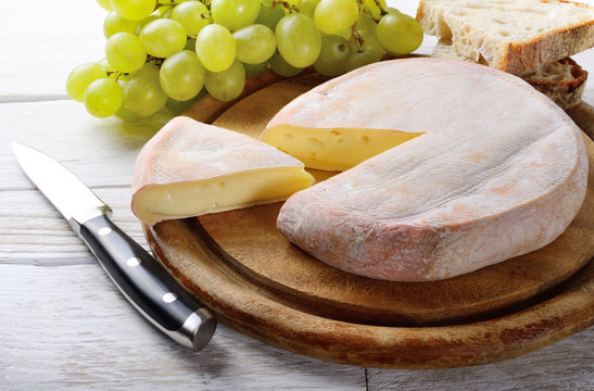 Reblochon. French cheese made in the Alpine region of Savoy from raw cow's milk.