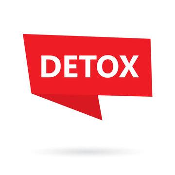 detox word on a speach bubble- vector illustration