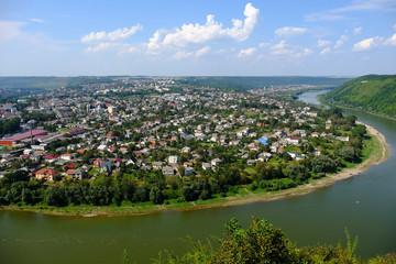 Photo of Zaleschiki - the city, Zaleschitsky district, Ternopil region, Ukraine. Panoramic view