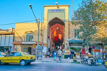 The portal of Kashan Grand Bazaar, Iran