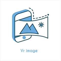 Vr image flat line icon