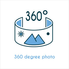 360 degree photo icon