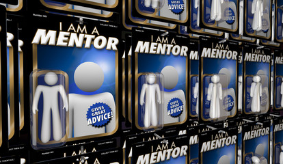 Mentor Advisor Teacher Guide Advice Action Figure 3d Illustration