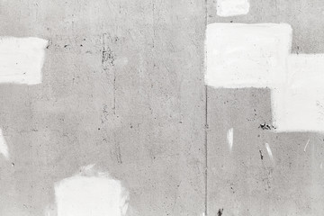 Fototapete - Gray concrete wall with white paint