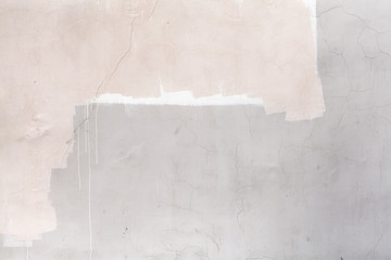 Fototapete - Gray concrete wall with white and pink paint