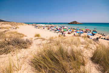 Wall Mural - Panorama of a pristine beach in Sardinia, Italy.