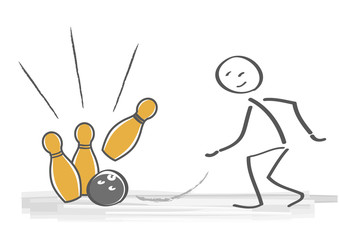 Bowling Spiel - strike